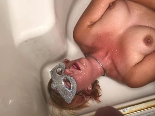Degraded and humiliated piss MILF even swallows pee at the end
